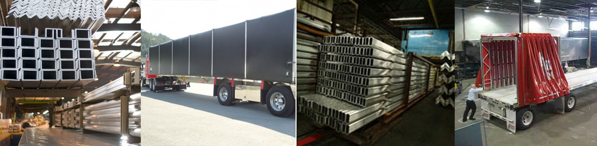 Aluminum Extrusions Shipping Trucking